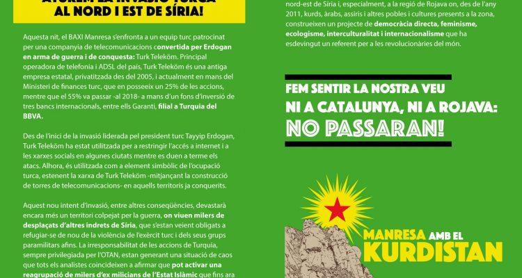 La Grada d'Animació en solidaritat amb el poble kurd